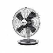 Ventilateur de table 30 cm - Noir et Chrome